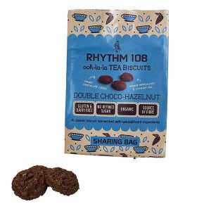 Rhythm 108 Double Choco-Hazelnut Tea Biscuits 135g