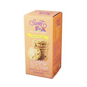 Sweet FA Organic Gluten Free Orange and Cranberry Vegan Cookies 125g