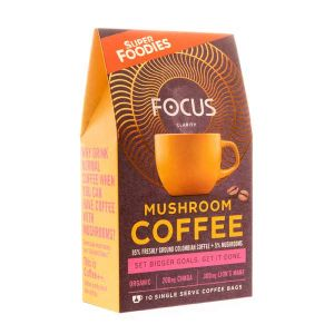 Superfoodies Mushroom Coffee Focus 10 Sachets