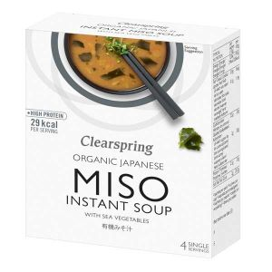 Clearspring Organic Miso Instant Soup With Sea Vegetables 4x10g Sachets