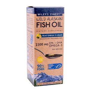 Wiley's Finest Wild Alaskan Fish Oil Peak Omega 3 liquid 250ml