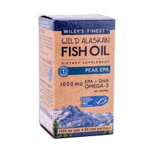 Wiley's Finest Wild Alaskan Fish Oil Peak EPA 1000mg EPA+DHA 60 capsules