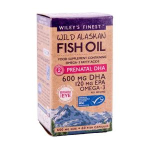 Wiley's Finest Wild Alaskan Fish Oil Prenatal DHA 60 Capsules