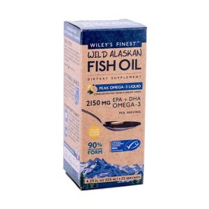 Wiley's Finest Wild Alaskan Fish OIl Peak Omega 3 Liquid 125ml