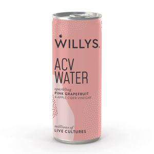 Willy's Sparkling ACV Water with Pink Grapefruit 250ml