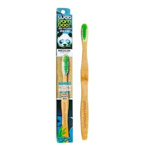 Woobamboo Medium Adult Toothbrush Zero Waste