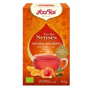 Yogi Tea Organic for the Senses Natural Wellbeing with Mandarin Hibiscus and Sea Buckthorn 20 Teabags