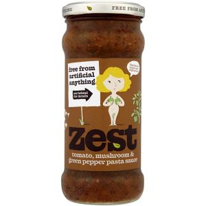 Zest- Tomato, Mushroom & Green Pepper Pasta Sauce 340g