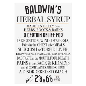 Baldwins Vintage Poster 'herbal Syrup'