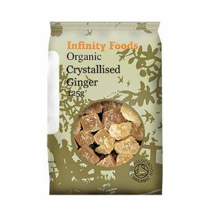 Infinity Foods Organic Crystallised Ginger 125g