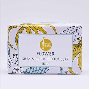Laughing Bird Flower Soap with Shea and Cocoa Butter 150g
