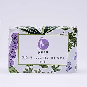 Laughing Bird Herb Soap with Shea and Cocoa Butter 150g