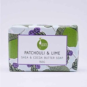 Laughing Bird Patchouli & Lime Soap with Shea and Cocoa Butter 150g