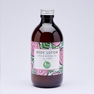 Laughing Bird Shea & Almond Oil Body Lotion with Rose 300ml