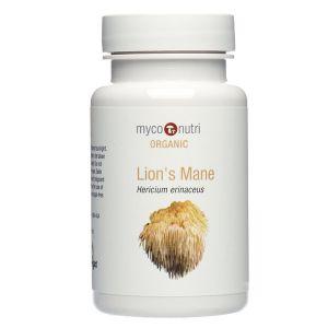 Myco-Nutri Organic Hericium ( Lion's Mane ) Mushroom Supplement 500mg 60 Capsules