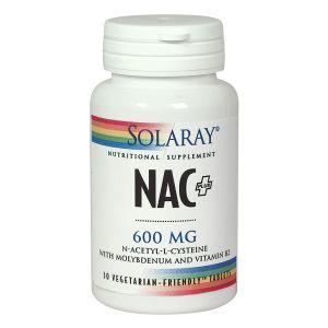Solaray Nac Plus 600mg 30 Tablets
