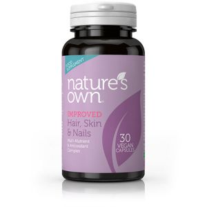Natures Own Hair Skin And Nails 30 Vegan Capsules
