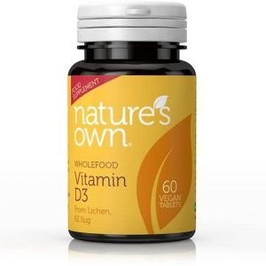 Natures Own Vitamin D3 60 Vegan Tablets