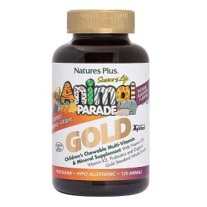 Natures Plus Animal Parade Gold Chewable Assorted Flavours Multi Vitamin And Mineral 120 Tablets
