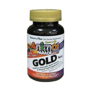 Natures Plus Animal Parade Gold Chewable Assorted Flavours Multi Vitamin And Mineral 60 Tablets
