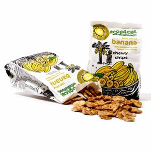 Tropical Wholefoods Fairtrade Organic Banana Chewy Chips 100g