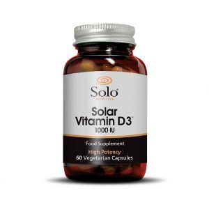 Solo Vitamin D3 Cholecalciferol 1000iu 60 Capsules