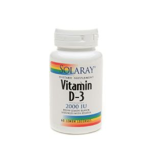Solaray Vitamin D-3 60 Vegan Friendly Lozenges