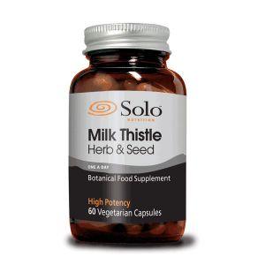 Solo Milkthistle (herb & Seed) Vegetarian Capsules