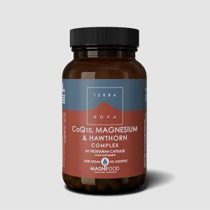 Terranova CoQ10 Magnesium & Hawthorn Complex 50 Vegan Capsules
