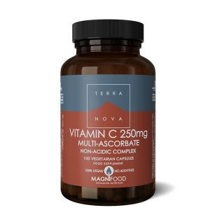 Terranova Vitamin C 250mg Multi-Ascorbate Complex (Non Acidic) 100 Vegan Capsules
