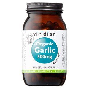 Viridian Organic Garlic 500mg 30 Vegetarian Capsules