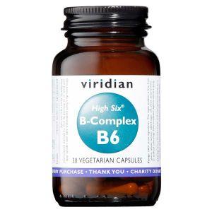 Viridian High Six B Complex B6 30 Vegetarian Capsules
