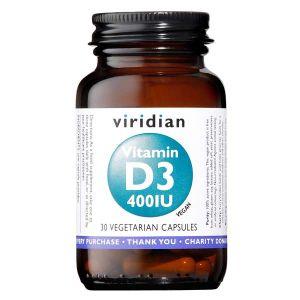 Viridian Vitamin D3 400iu Vegan Capsules