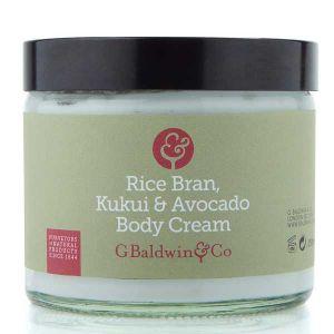 Baldwins Rice Bran, Kukui & Avocado Body Cream 250ml
