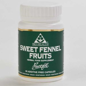Bio-health Sweet Fennel Fruits 450mg 60 Vegetarian Capsules