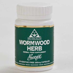 Bio-health Wormwood Herb 250mg 60 Vegetarian Capsules
