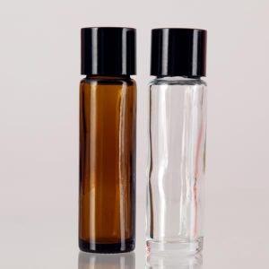 Baldwins Amber Glass Rollette Bottles With Plain Screw Cap 10ml
