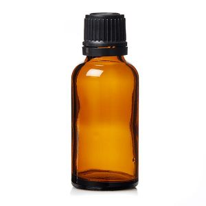 Alpha Amber Glass Bottles With Thick Plug Insert 30ml