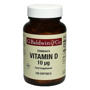 Baldwins Vitamin D 10mcg 100 Softgels (suitable For Children)