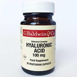 Baldwins Botanical Complex Hyaluronic Acid 100mg 50 Vegetarian Capsules