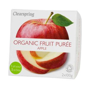 Clearspring Organic Fruit Puree Apple 2x 100g