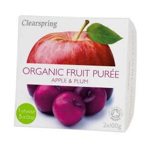 Clearspring Organic Fruit Puree Apple and Plum 2x100g