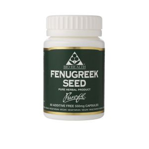 Bio-health Fenugreek Seed 550mg 60 Vegetarian Capsules