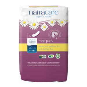 Natracare Maxi Pads X 10 (night Time)
