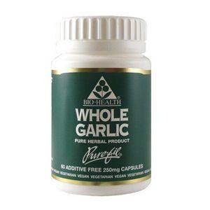 Bio-health Garlic (whole Clove) 300mg 60 Vegetarian Capsules