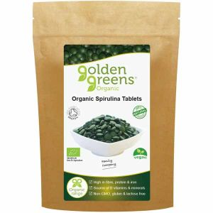 Golden Greens Organic Spirulina 120 500mg Tablets