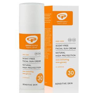 Green People Organic Scent-Free Facial Sun Cream SPF30 50ml