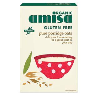 Amisa Organic Gluten Free Pure Porridge Oats 325g