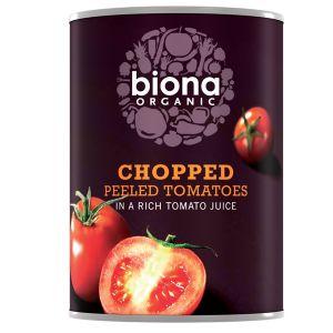 Biona Organic Canned Chopped Peeled Tomatoes 400g