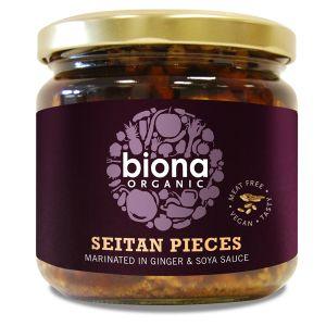 Biona Organic Seitan Pieces (in Soya Sauce & Ginger) 350g